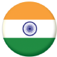 India Country Flag 25mm Flat Back